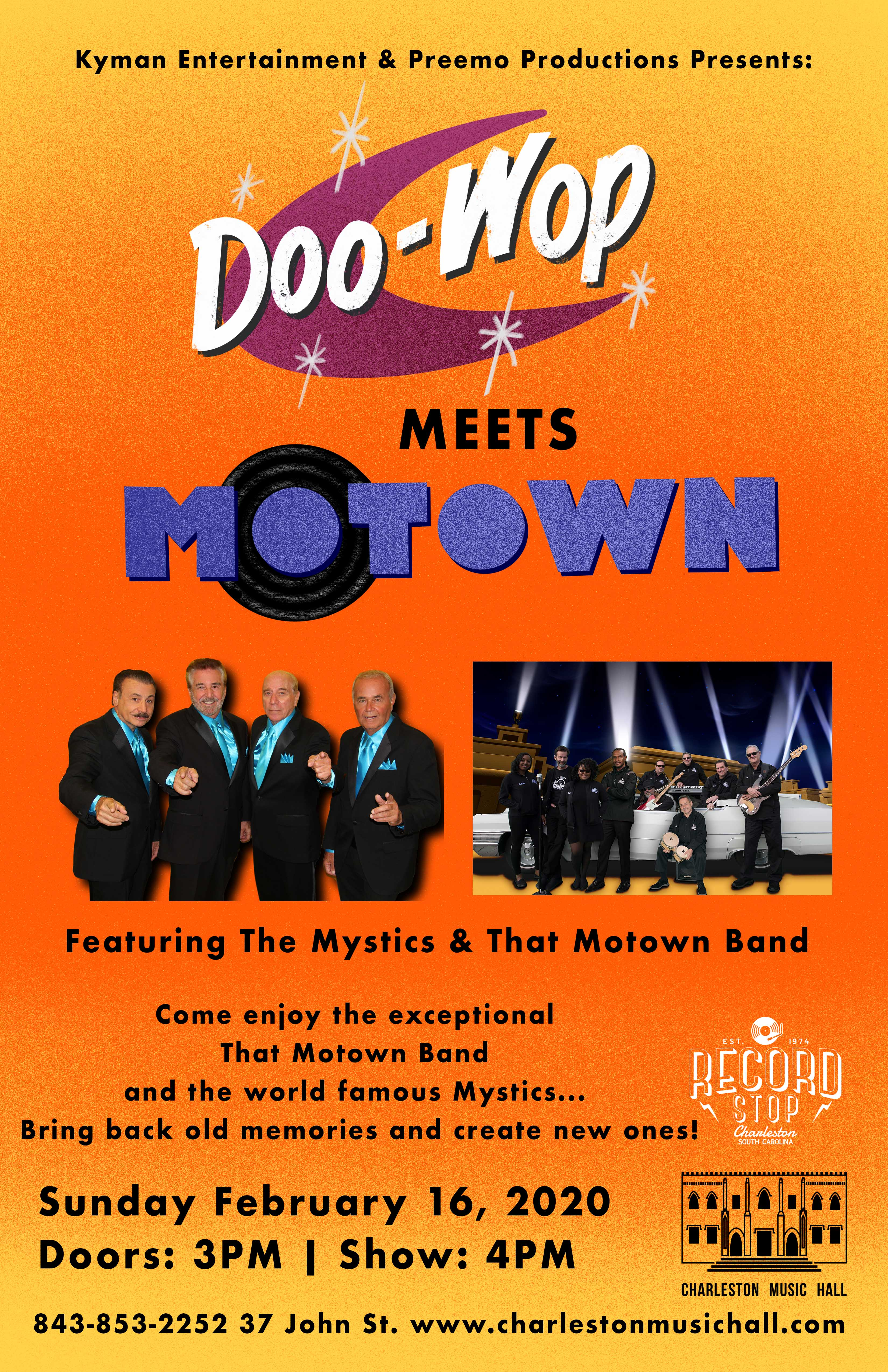 Doo Wop Meets Motown featuring The Mystics and That Motown Band